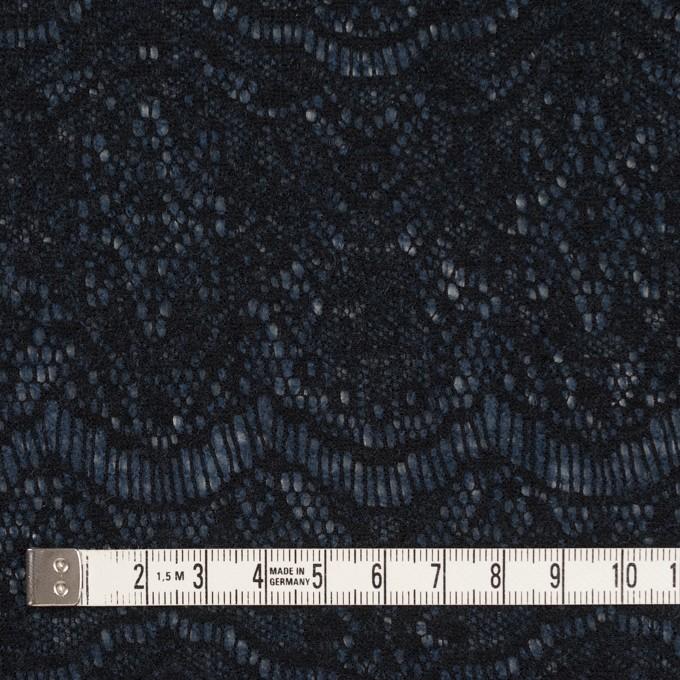 アクリル&ウール混×スカラップ(ネイビーブルー&ブラック)×メッシュニット&ラッセルレース イメージ4