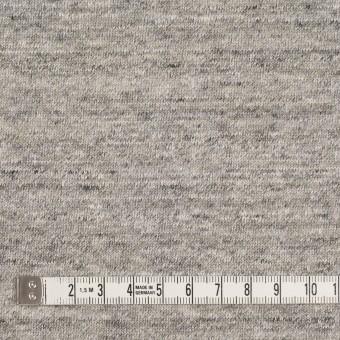 コットン&ポリエステル×無地(杢グレー&レモンイエロー)×裏毛ニット サムネイル4
