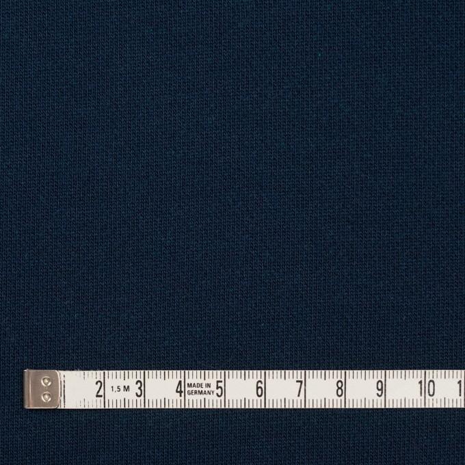 コットン&ポリエステル×無地(ネイビー&エメラルドグリーン)×裏毛ニット イメージ4