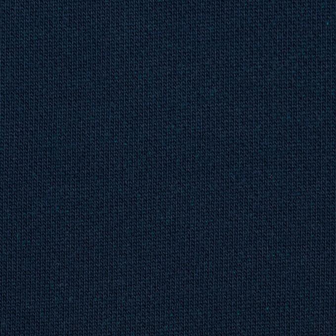コットン&ポリエステル×無地(ネイビー&エメラルドグリーン)×裏毛ニット イメージ1