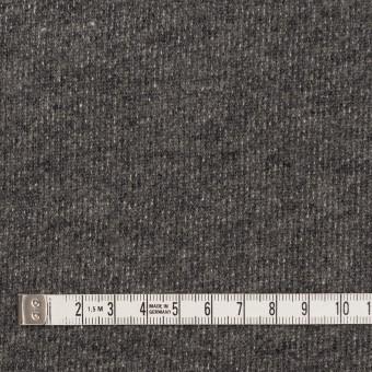 コットン&ウール×無地(チャコールグレー)×裏毛ニット サムネイル4