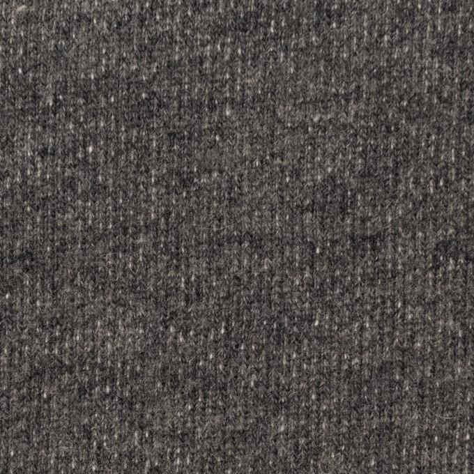 コットン&ウール×無地(チャコールグレー)×裏毛ニット イメージ1