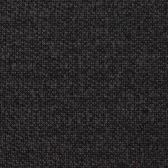 コットン&ナイロン混×無地(チャコール)×裏毛ニット サムネイル1