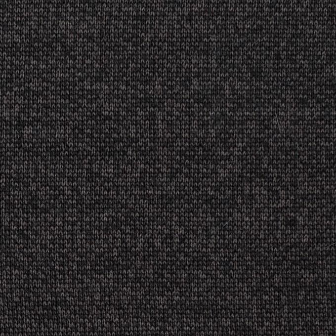 コットン&ナイロン混×無地(チャコール)×裏毛ニット イメージ1