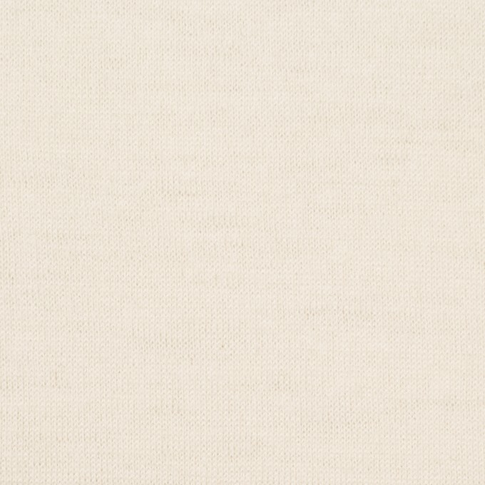 ウール×無地(クリーム)×天竺ニット イメージ1