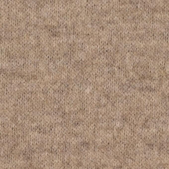 ウール&ナイロン×無地(ベージュ&ブラウン)×W天竺ニット_全2色 イメージ1
