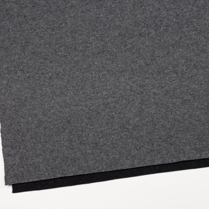ウール&ナイロン×無地(チャコールグレー&ブラック)×W天竺ニット_全2色 イメージ2