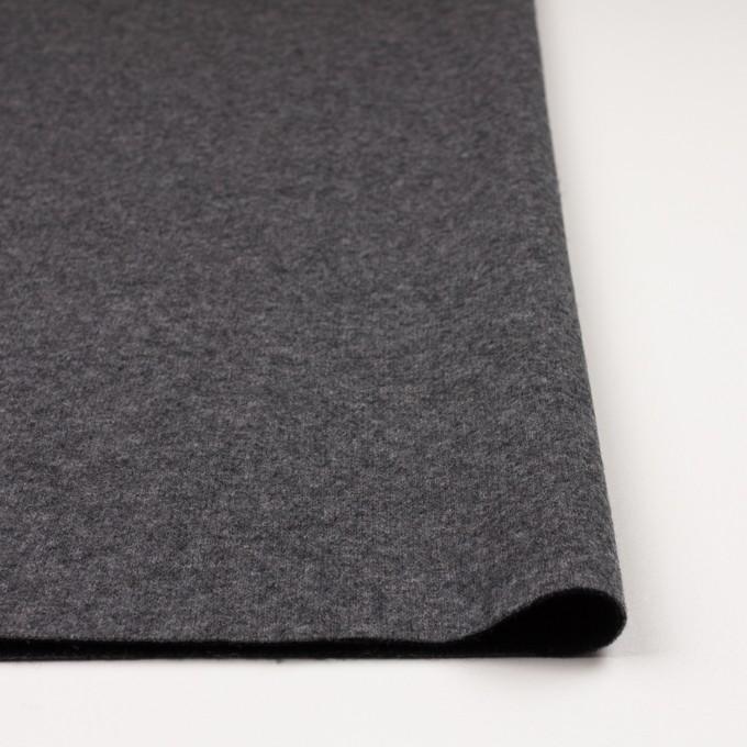 ウール&ナイロン×無地(チャコールグレー&ブラック)×W天竺ニット_全2色 イメージ3