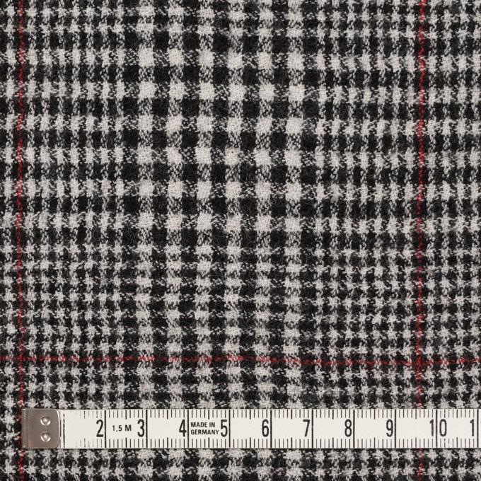 ウール×チェック(オフホワイト&ブラック)×ガーゼ イメージ4