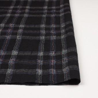 ウール&ポリエステル×チェック(ブラック)×ガーゼ_全3色 サムネイル3