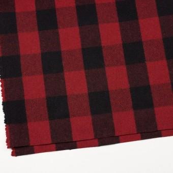 ウール&ナイロン×チェック(レッド&ブラック)×ツイード サムネイル2