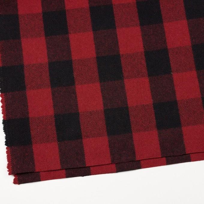 ウール&ナイロン×チェック(レッド&ブラック)×ツイード イメージ2