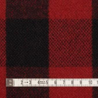 ウール&ナイロン×チェック(レッド&ブラック)×ツイード サムネイル4