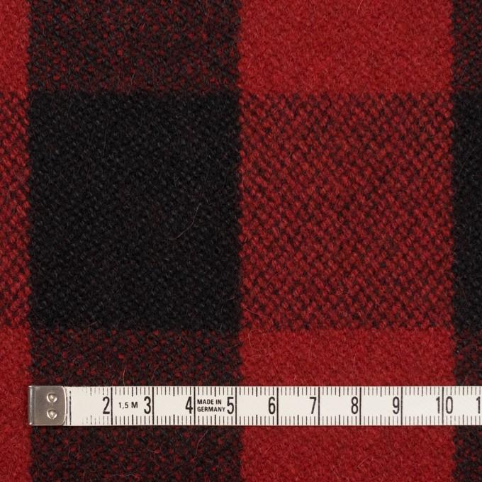 ウール&ナイロン×チェック(レッド&ブラック)×ツイード イメージ4