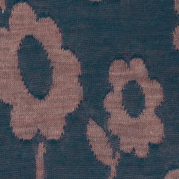 モダール&ウール混×フラワー(ミルクココア&バルビゾン)×Wニットジャガード イメージ1