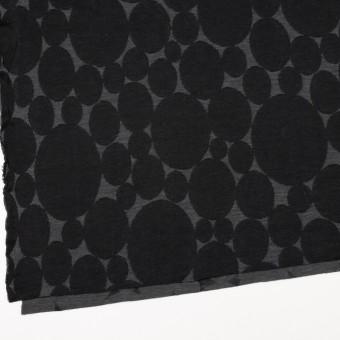 ウール&ポリエステル×オーバル(チャコールグレー&ブラック)×Wニットジャガード サムネイル2