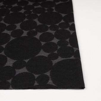 ウール&ポリエステル×オーバル(チャコールグレー&ブラック)×Wニットジャガード サムネイル3