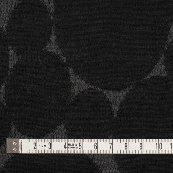 ウール&ポリエステル×オーバル(チャコールグレー&ブラック)×Wニットジャガード サムネイル4