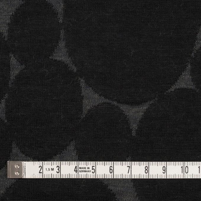 ウール&ポリエステル×オーバル(チャコールグレー&ブラック)×Wニットジャガード イメージ4