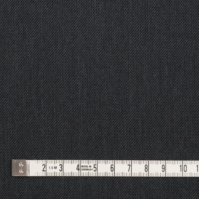 ポリエステル&コットン×無地(チャコール)×サージ イメージ4