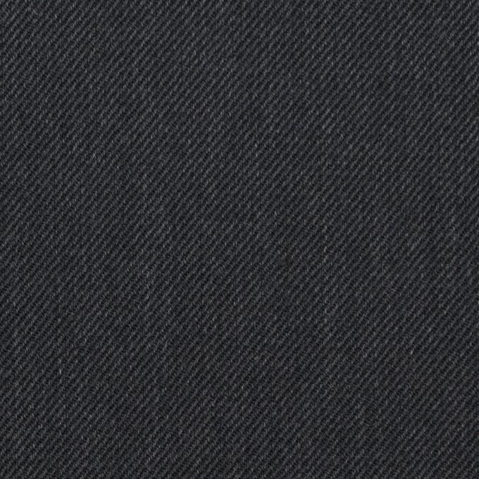 ポリエステル&コットン×無地(チャコール)×サージ イメージ1
