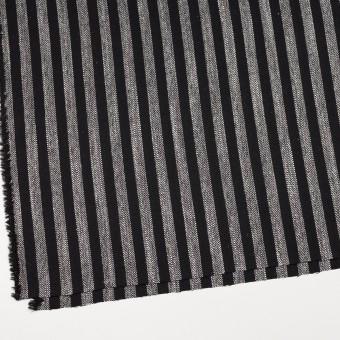 ウール&テンセル混×ストライプ(シルバーグレー&ブラック)×ヘリンボーン サムネイル2