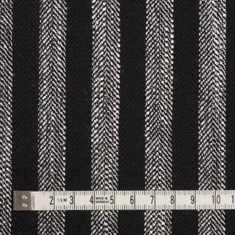 ウール&テンセル混×ストライプ(シルバーグレー&ブラック)×ヘリンボーン サムネイル4