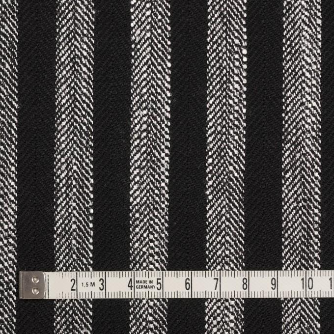 ウール&テンセル混×ストライプ(シルバーグレー&ブラック)×ヘリンボーン イメージ4