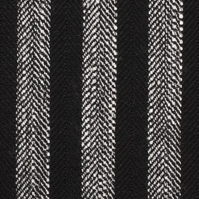 ウール&テンセル混×ストライプ(シルバーグレー&ブラック)×ヘリンボーン イメージ1