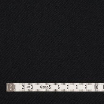 ウール×無地(ブラック)×サキソニー サムネイル4
