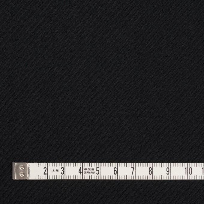 ウール×無地(ブラック)×サキソニー イメージ4