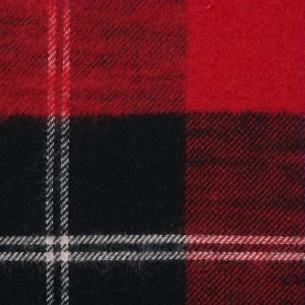 コットン×チェック(レッド&ブラック)×フランネル サムネイル1