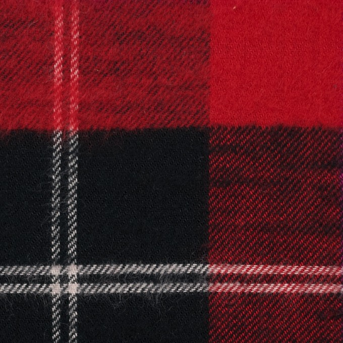 コットン×チェック(レッド&ブラック)×フランネル イメージ1