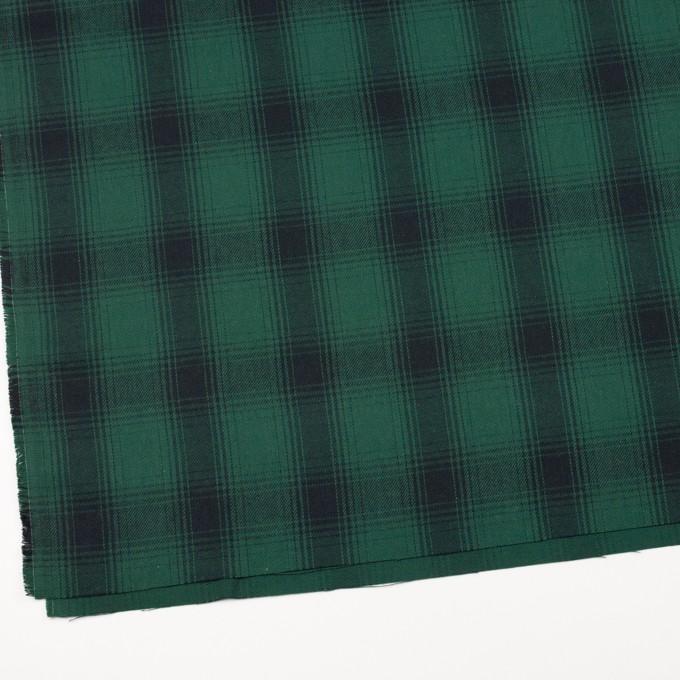 コットン×チェック(モスグリーン&ブラック)×ビエラ イメージ2