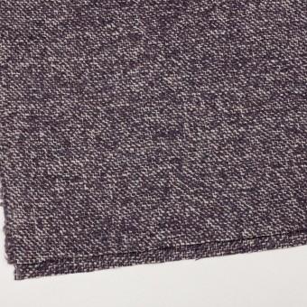 ウール&モヘア混×ミックス(オフホワイト&パープル)×ファンシーツイード_イタリア製 サムネイル2