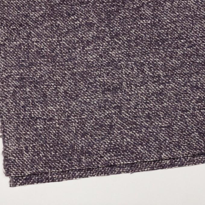 ウール&モヘア混×ミックス(オフホワイト&パープル)×ファンシーツイード_イタリア製 イメージ2