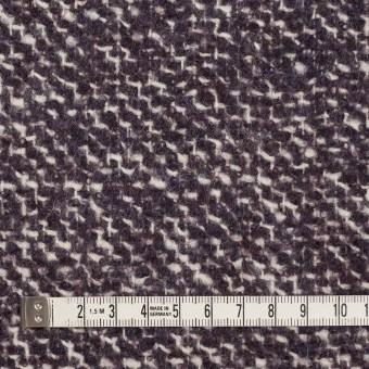 ウール&モヘア混×ミックス(オフホワイト&パープル)×ファンシーツイード_イタリア製 サムネイル4