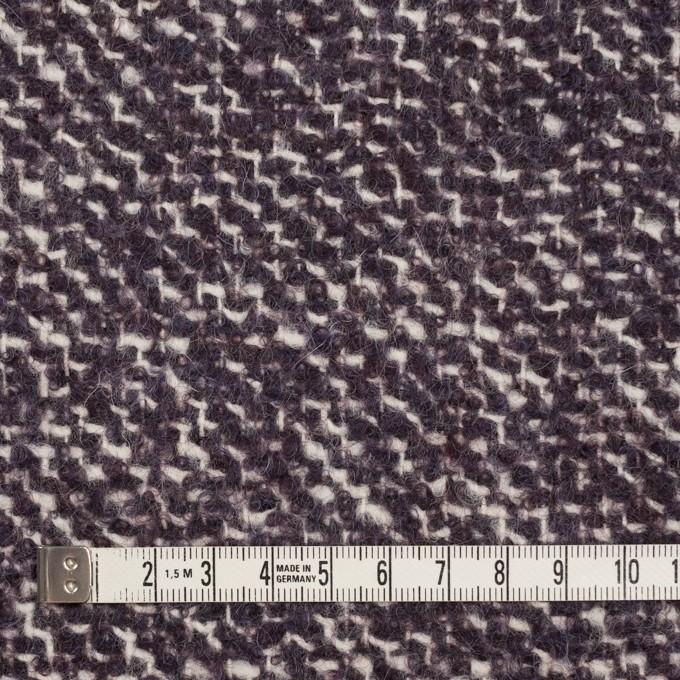 ウール&モヘア混×ミックス(オフホワイト&パープル)×ファンシーツイード_イタリア製 イメージ4