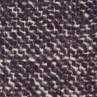 ウール&モヘア混×ミックス(オフホワイト&パープル)×ファンシーツイード_イタリア製 サムネイル1