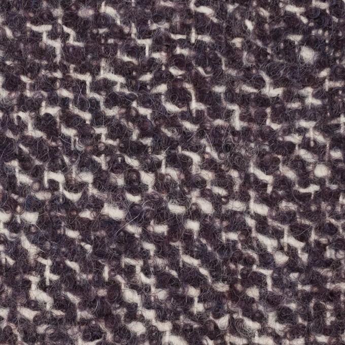 ウール&モヘア混×ミックス(オフホワイト&パープル)×ファンシーツイード_イタリア製 イメージ1