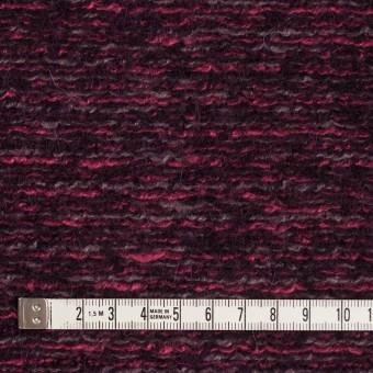 ウール&アクリル混×ミックス(ベリー)×ループニット_イタリア製 サムネイル4