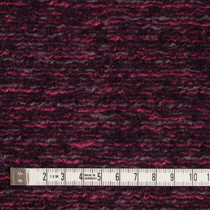 ウール&アクリル混×ミックス(ベリー)×ループニット_イタリア製 イメージ4