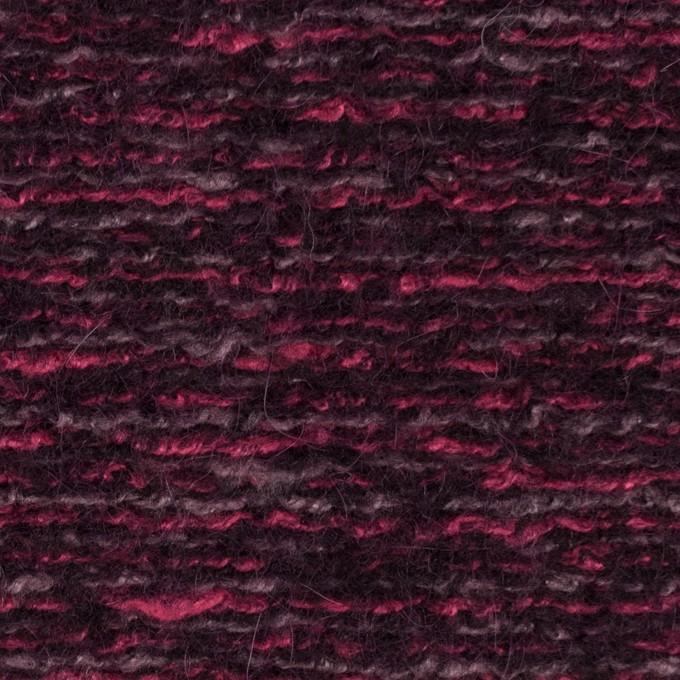 ウール&アクリル混×ミックス(ベリー)×ループニット_イタリア製 イメージ1