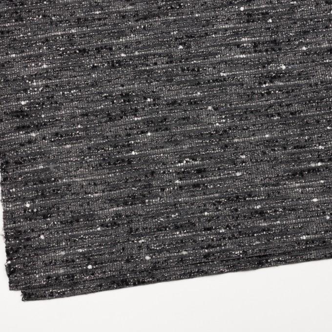ウール&アクリル混×ミックス(グレー&ブラック)×ファンシーツイード イメージ2