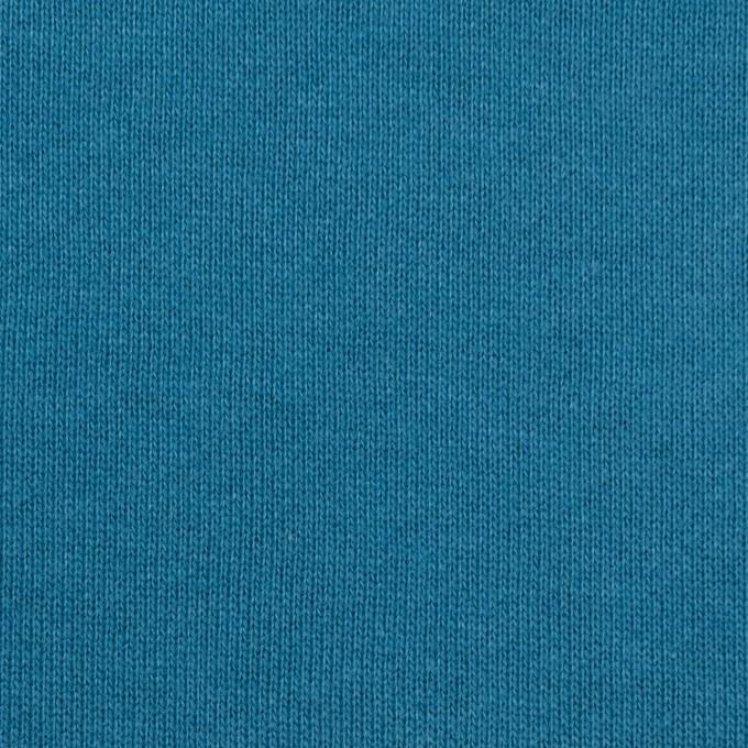 コットン×無地(セルリアンブルー)×裏毛ニット イメージ1