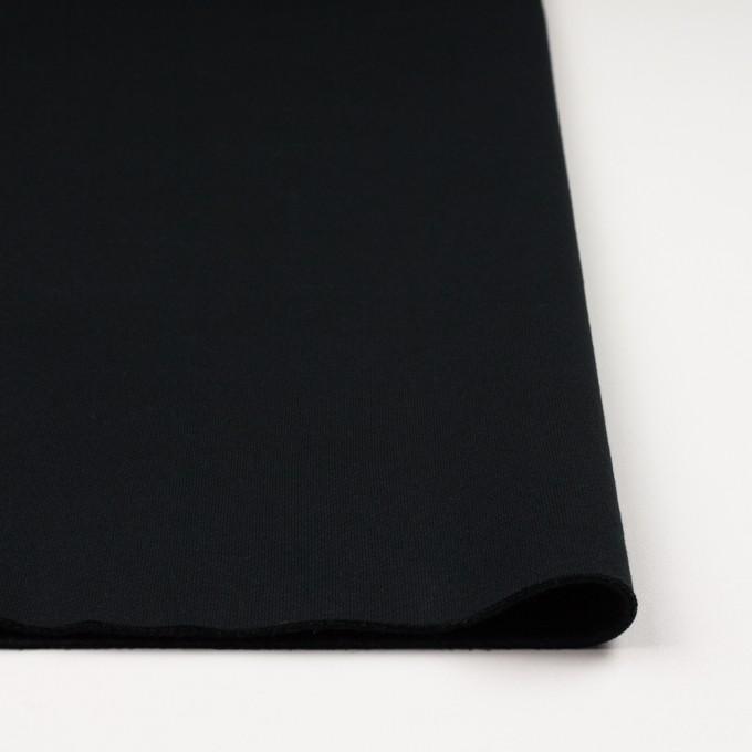コットン&ポリエステル×無地(ブラック)×裏毛ニット(裏面起毛) イメージ3