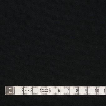 コットン&ポリエステル×無地(ブラック)×裏毛ニット(裏面起毛) サムネイル4