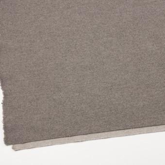 ウール&ポリアミド×無地(グレイッシュベージュ&アッシュグレー)×Wフェイス圧縮天竺ニット_イタリア製 サムネイル2