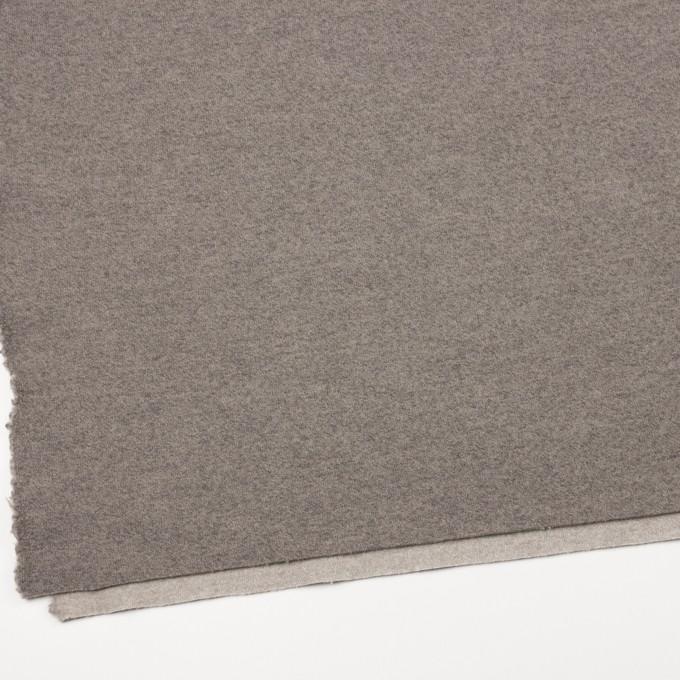 ウール&ポリアミド×無地(グレイッシュベージュ&アッシュグレー)×Wフェイス圧縮天竺ニット_イタリア製 イメージ2