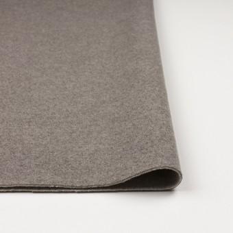 ウール&ポリアミド×無地(グレイッシュベージュ&アッシュグレー)×Wフェイス圧縮天竺ニット_イタリア製 サムネイル3